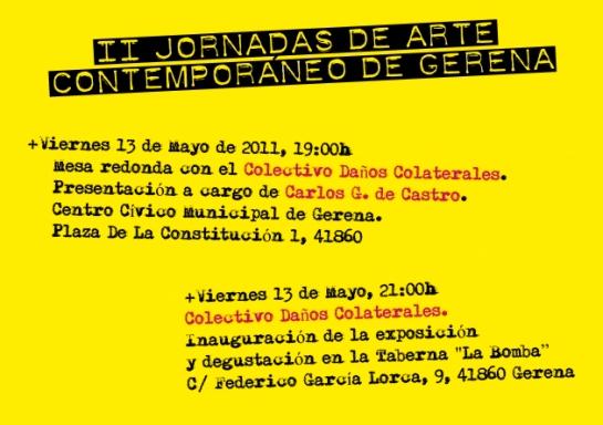 cartel II jornadas arte contemporáneo de Gerena