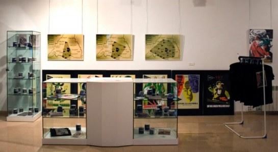 """Instalación """"Madrid, ¡hagámosle inexpugnable!"""" Durante la muestra Psicogeografías: espacio y memoria"""