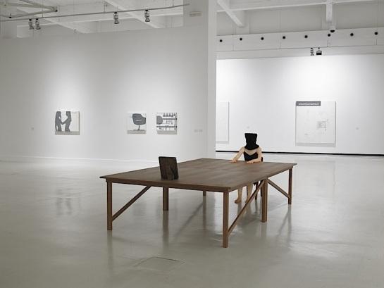 Vista de la exposición de Julião Sarmento en el CAC de Málaga