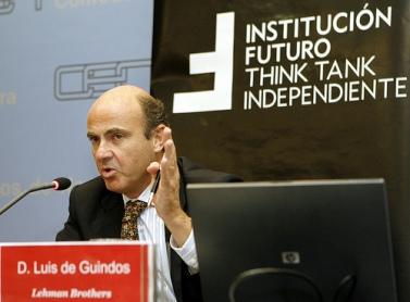 2008, Luís de Guindos cuando era responsable de Lehman Brothers